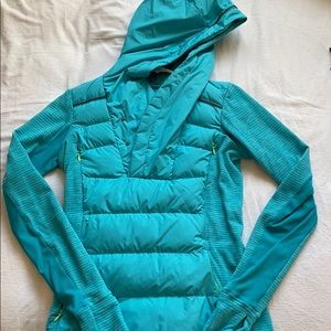 lululemon turquoise down pullover
